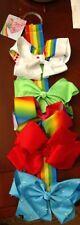 Nwt Jojo Siwa 5 Large Signature Bows With Bow Organizer Rainbow 🌈 Collection✈📭