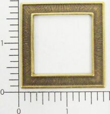 Square Frame Jewelry Finding Sale 21153 4 Pc Brass Oxidized Victorian