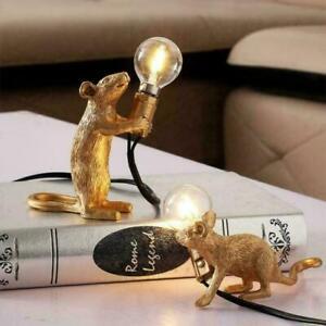 Modern Table Lamp Mouse Desk Light Bedside Resin Lamps Sitting Decor