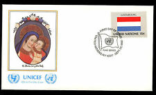 United Nations 1980 Luxembourg Flag UNICEF FDC Cover #C11494