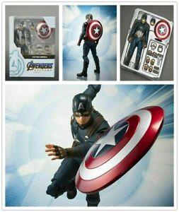 S.H.Figuarts Marvel Avengers Endgame Captain America SHF Action Figures KO Toy