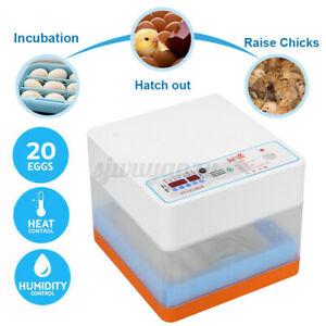 20 Egg Incubator Fully Automatic Digita Turning Chicken Duck Poultry Hatcher