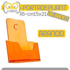 PORTADEPLIANT A5 DL ARANCIO DA BANCO parete depliant plexi volantini cataloghi