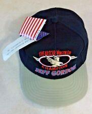 1995 NASCAR JEFF GORDON BASEBALL CAP 24 BLACK TAN ADJUSTABLE ORIGINAL TAGS