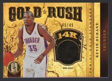 2011-12 Panini Gold Standard Kevin Durant Gold Rush 14K #49/49