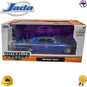 Diecast Model Car 1:24 1964 Chevy Impala Jada BigTime Muscle 96856 Ford SRT