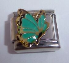 GREEN BUTTERFLY 9mm Italian Charm fits Classic Starter Bracelets May Birthstone