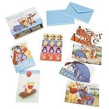 Disney Store Winnie The Pooh Greeting Blank Note Cards Envelope Sticker Box Set