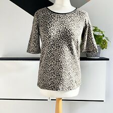 M&S COLLECTION LEOPARD PRINT TOP Size 10 | Smart casual zip back Marks Spencer