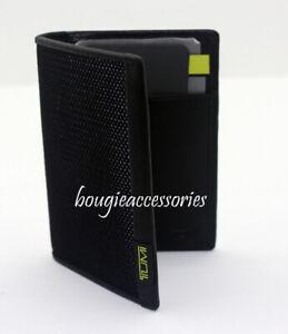 New Tumi Alpha Multi Window Card Case Wallet Reflective Lime Black