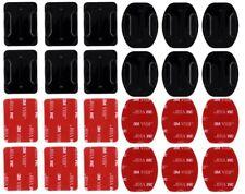 12 x Klebepads Pads gerade u. gebogen für GoPro Hero 1 2 3 4 5 6