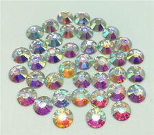Nail Art Fashion Flatbck Crystal AB ResinJewelry Round Rhinestone 100Pc 8mm Gift