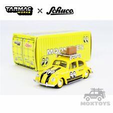 Tarmac Works x Schuco 1:64 VW Beetle Mooneyes w/Roof Rack & Suitcases Car