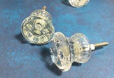 ~1- Vintage Style Glass Flower French Chic Knobs Pulls~ Choose Quantity