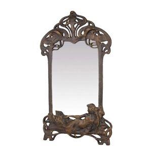 9973866 Fer de Fonte Miroir de Table Psyché Art Nouveau 29x50cm