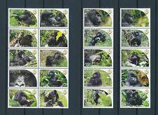 [25824] Uganda 2011 Wild Animals Monkeys MNH