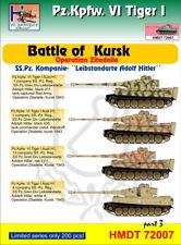 h-model Decals 1/72 pz.kpfw.vi Tiger I Kampf von Kursk ss-pz.kp. Leibstandarte