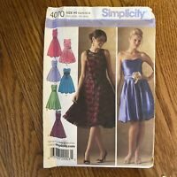 Misses' Special Occasion DRESSES Sz 6 -14 Simplicity #4070