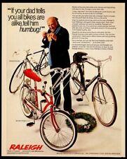 1968 Raleigh Fireball red bike Sports Record photo Christmas vintage print ad