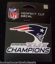 "New England Patriots 2014 Super Bowl 49 Champions 4""x4"" Color Decal"