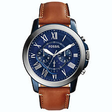 Fossil Grant 44mm Men's Analog Fashion Watch - Brown/Blue