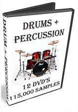 DRUMS + PERCUSSION SAMPLES -  APPLE LOGIC PRO X  EXS24 -  12 DVD'S OF WAV - 44GB