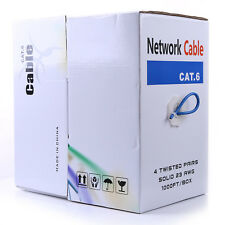 CAT6 305m 1000FT UTP Network Ethernet Cable 23AWG 1/0.56mm Pure Copper 300V LAN