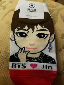 NEW BTS Jin Socks Kpop K-pop US Seller Cute Kawaii Women's 230-255 mm Size