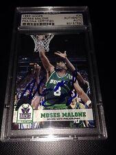 Moses Malone HOF DECEASED HAND SIGNED 1993 Hoops PSA/DNA SLABBED COA RARE