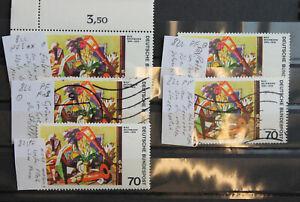 Bund Plattenfehler BRD Michel Nr. 822 fünf verschiedene Plattenfehler