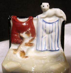 Made in Japan Ceramic Pottery Vintage Ashtray Dog & Cat MK Design Lustreware