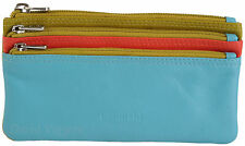 GOLUNSKI Soft Leather 3 Section Zipped Coin Purse In Various Colourways - 0330