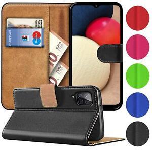 Book Case für Samsung Galaxy A12 Hülle Tasche Flip Cover Handy Schutz Hülle