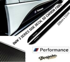 BMW 3 SERIES E90 91 92 93 M PERFORMANCE SIDE STICKER SKIRT DECALS VINYL CARBON