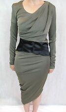 Alexander Wang Size 6 or 8 Gold Beige Mesh Corset Dress