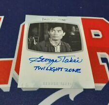 2020 Twilight Zone Archives AI21 George Takei Inscription Autograph Twilight