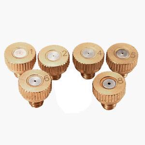 5x Brass Misting Nozzles Stainless Steel Orifice 0.1/0.2/0.3/0.4/0.5/0.6/0.8m&BI