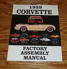 1959 Chevrolet Corvette Factory Assembly Manual 59 Chevy
