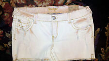 NWT Amethyst Jeans Shorts Women 13 Distressed Peachy Stonewashed