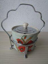Vintage BRENTLEIGH Ware Préserver Pot, rare coquelicots.
