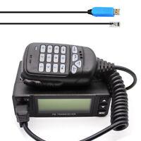 HYS 25W Dual Band 144/430MHz Dual PTT Portable Mini Car Mobile Radio Transceiver