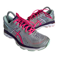 Asics Gel Kayano 23 Womens Size 9 Pink Silver Athletic Running Shoes Sneakers