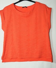 ORANGE LADIES PARTY CASUAL TOP BLOUSE SIZE 14/42 GEORGE STRETCHY