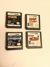 Nintendo DS Game Lot (4) Spider-Man Star Wars Chicken Blaster Wire Way Bundle