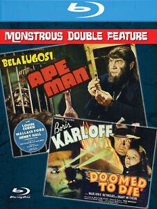 Ape Man + Doomed to Die Blu-Ray Retromedia Bela Lugosi Boris Karloff double bill