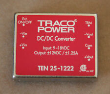 TRACO TEN 25-1222 30W ISOLATED DC/DC. 9-18VDC IN,+/- 12V DUAL OUTPUTS AT 1.25A