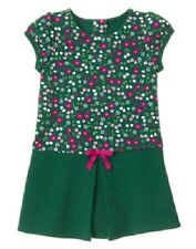 Gymboree Plum Pony Green Floral Quilted Knit Dress Toddler Girl Size 4T NEW