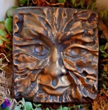 Green man plaque plastic mold concrete plaster mould