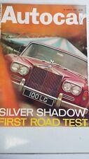 AUTOCAR Magazine 30/3/67 Test Rolls Royce Silver Shadow, Volvo 144, VW 1350 GT.