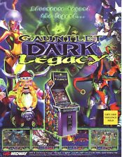 Atari GAUNTLET DARK LEGACY Original 2000 NOS Video Arcade Game Promo Sales Flyer